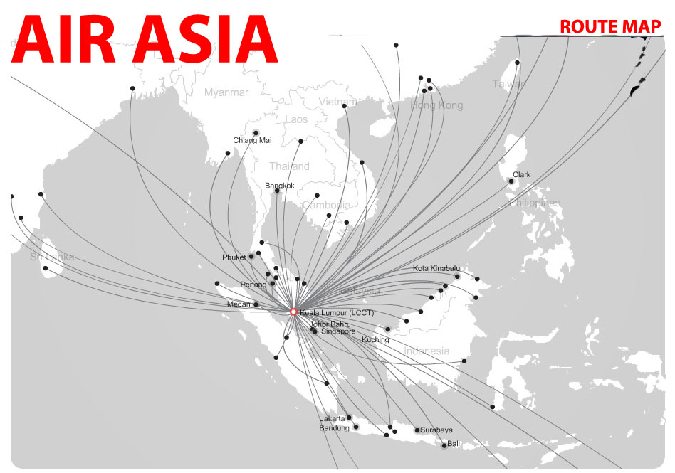 AirAsia-route-map