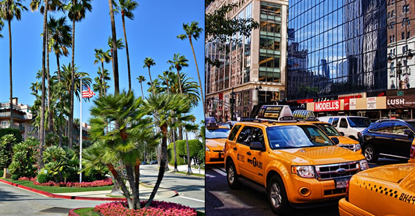 LOS ANGELES a NEW YORK
